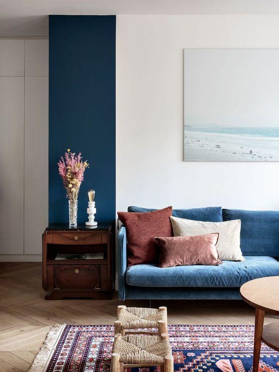 Signification des couleurs salon bleu
