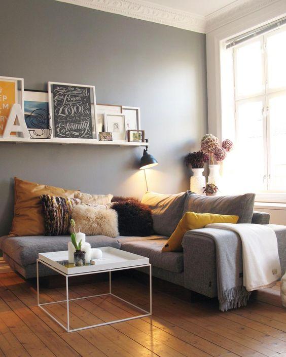 Signification des couleurs salon gris