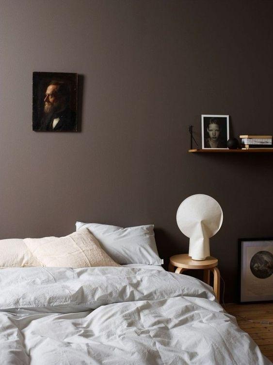 Signification des couleurs Chambre marron