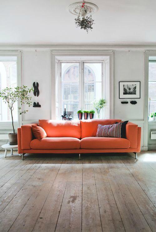 Signification des couleurs salon orange
