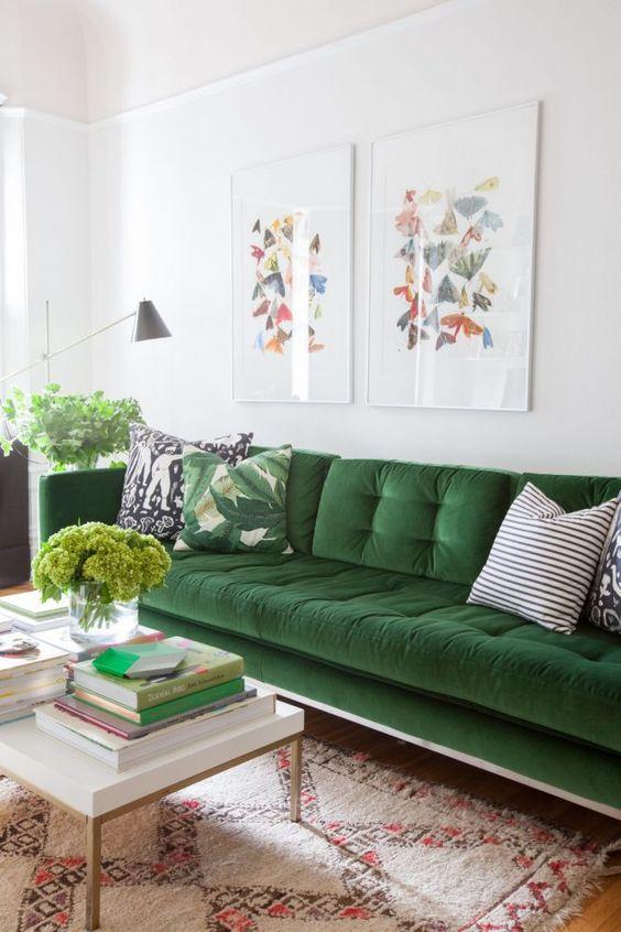 Signification des couleurs salon vert