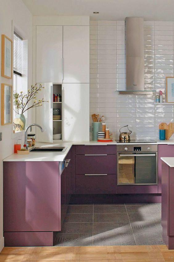 Signification des couleurs Cuisine violette