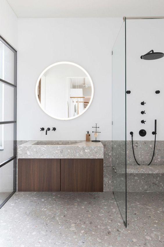sol salle de bain granito