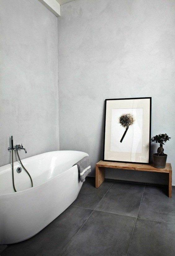 sol salle de bain dalle vinyle
