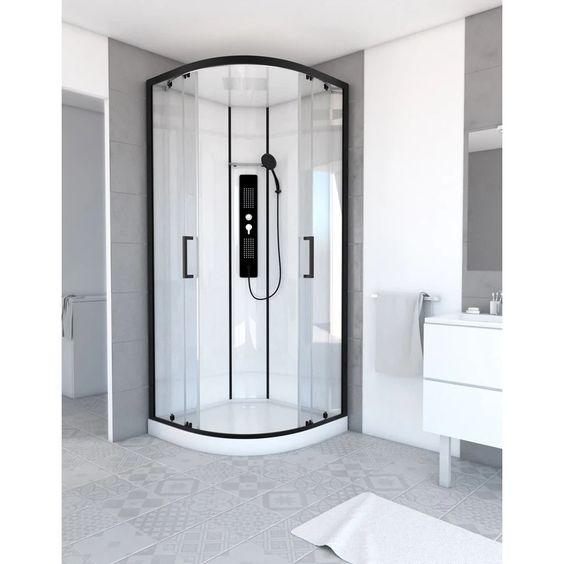 cabine de douche 1/4 de cercle
