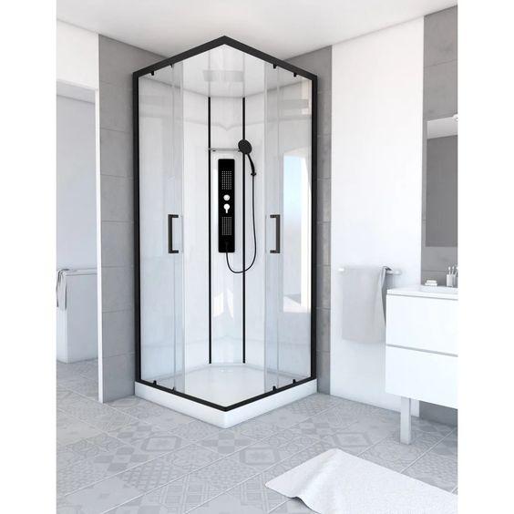 cabine de douche carrée