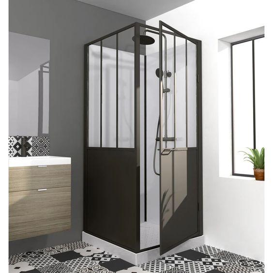 cabine de douche verrière