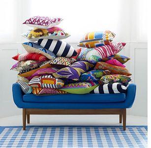 Bretagne Moderne des coussins au tissus colorés