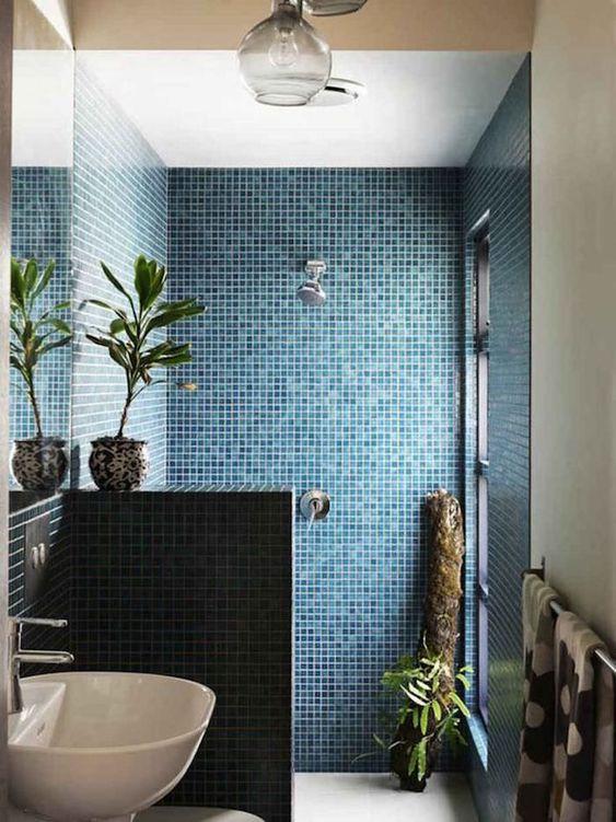 bretagne moderne salle de bain piscine bleue
